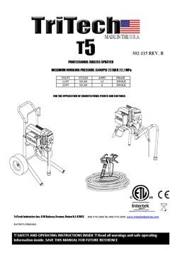 Yorkshire Spray Services Ltd - TriTech T5 Skid Mount Manual