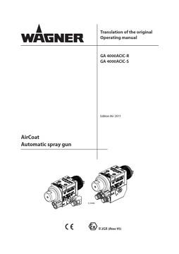 Yorkshire Spray Services Ltd - Wagner GA4000ACIC Manual