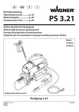 Yorkshire Spray Services Ltd - Wagner Pro Spray 3.21 HEA Airless Paint Sprayer Manual