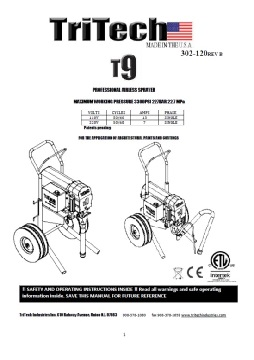 Yorkshire Spray Services Ltd - TriTech T9 Manual