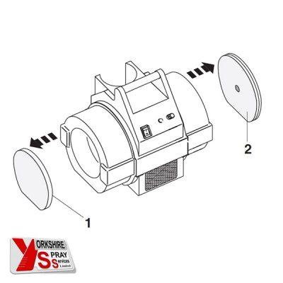 Yorkshire Spray Services Ltd - Wagner HVLP Filter Assy. Pack Detail