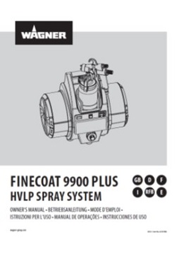 Yorkshire Spray Services Ltd - Wagner HVLP Fine Coat 9900 Plus Manual