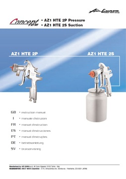 Yorkshire Spray Services Ltd - Anest Iwata AZ1 HTE 2 Pressure & Suction Gun Manual